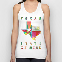 Texas State Of Mind Unisex Tank Top by Fimbis
