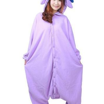 Anime Purple Espeon Onesuit Cosplay Costume Unisex Cartoon Umbreon Pajamas Party For Adult Men Women
