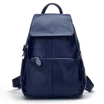 100% Soft Genuine Leather Backpack