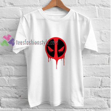 Deadpool Logo White t shirt gift tees unisex adult cool tee shirts buy cheap