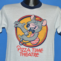 70s Pizza Time Theater Chuck E Cheese Ringer t-shirt Small