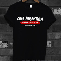 one direction shirt 1D where we are t-shirt printed black unisex size (DL-40)