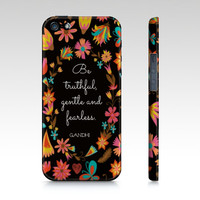 Gandhi Quote iPhone & Galaxy Case  Colorful Word by EverMorePrints