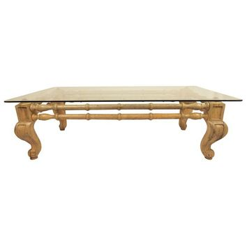 Pre-owned Wooden Faux Bamboo Coffee Table
