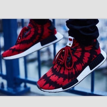 """Women """"Adidas"""" NMD Boost Casual Sports Shoes Red black print"""