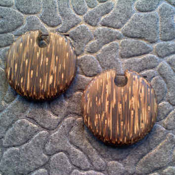 Stick Post Earrings Naturally Organic Hand Carved by DewiDesign