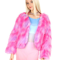 BARBIE GIRL FURRY COAT