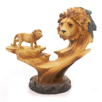 Animal Lion Bust Scene Figurine Figurine