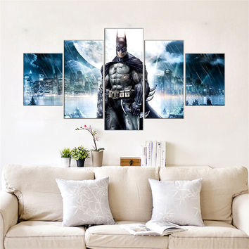 Batman Canvas Print Wall Art - 5 Pieces