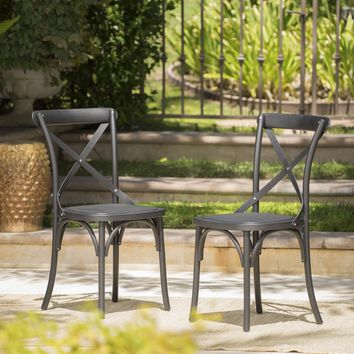 Ernie Outdoor Plastic Nylon Dining Chairs