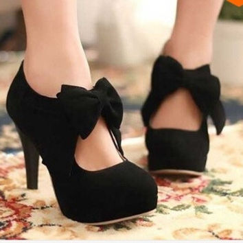 32-42 fashion vintage woman small bowtie platform pumps,ladys sexy high heeled shoes = 1946161540