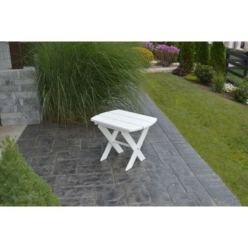 A&L Furniture Co. Recycled Plastic Folding Oval End Table  - Ships FREE in 5-7 Business days