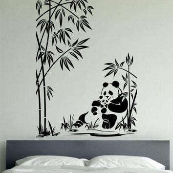 Panda Wall Decal Panda Family Sticker Art From
