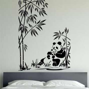 wall decal family art bedroom decor panda wall decal panda family sticker art decor bedroom design mural love family animals pandas bear