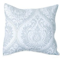 Tache 2 Piece Matelasse Floral Austere Light Grey Moon Cushion Cover Set (TB-300-199-CC)