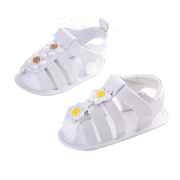 Girls Shoes PU Leather Kids Summer Baby Girls Shoe Skidproof Toddlers Children Kids Flower Sandals