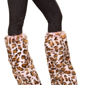 Roma Costume 4889 Pair of Pink Leopard Leg Warmers