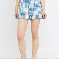 Urban Renewal Vintage Remnants Co-Ord Blue Gingham Shorts - Urban Outfitters