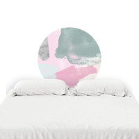 80s Pink Headboard Decal