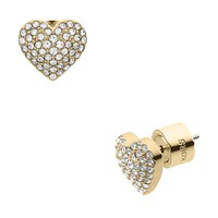 Michael Kors Pave Puffy Heart Stud Earrings | Bloomingdale's