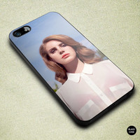 iPhone 5 / 5s / 5c - Lana Del Rey case, also for iPhone 4 / 4s, Nexus 4, Galaxy S3, S4, hard plastic, soft rubber tpu