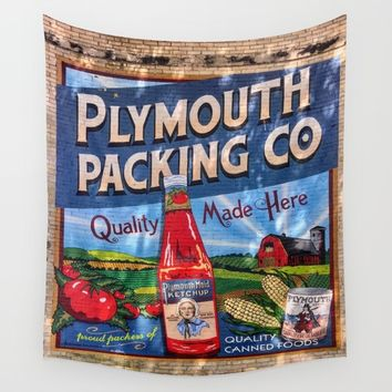Plymouth Mural Wall Tapestry by Lindsey Jennings Photography