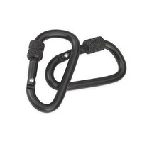 60mm Locking Accessory Carabiner 2 Pack Small Size- Black Camcon Proforce Gear