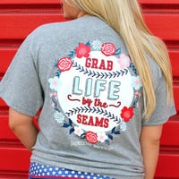 Jadelynn Brooke: Grab Life by the Seams Tee {Dark H. Grey}