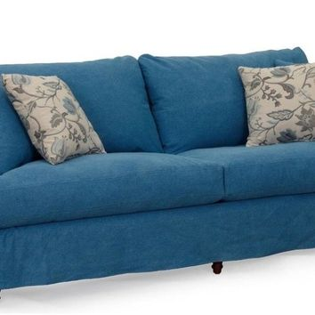 Seacoast Slipcovered Sofa | Indigo