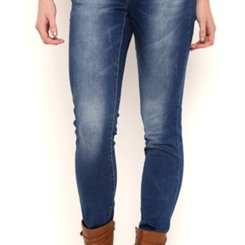 Ariya Sweet Cheeks Medium Blue Wash Curvy Fit Skinny Jeans