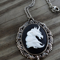 Unicorn Necklace by cynicalredhead on Etsy