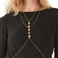 Gold Stone Bead Body Chain