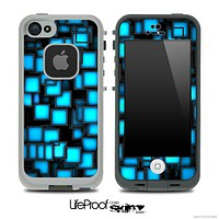 Neon Blue Tiles Skin for the iPhone 5 or 4/4s LifeProof Case