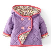 Mini Boden Quilted Jersey Jacket (Baby Girls)