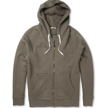 Acne Justin Loopback Cotton-Jersey Hoodie   MR PORTER