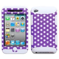 MyBat TUFF Hybrid Protector Cover for iPod touch Generation 4 (Purple/ White)