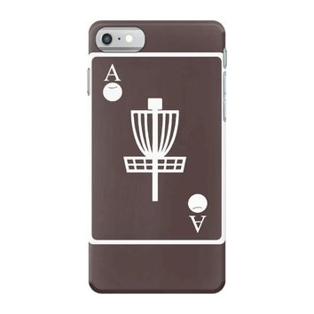 disc golf ace card target chains frisbee basket iPhone 7 Case