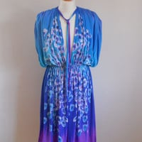 70s 80s Grecian Goddess Dress - M L XL