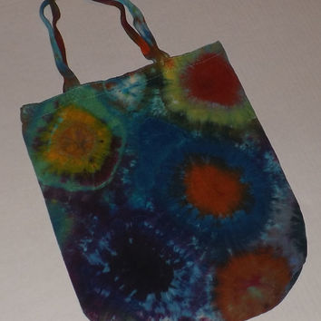 Tie Dye Tote Bag - Multi-Burst - Choose Any Color Combintation
