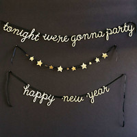 Meri Meri New Years Party Garland - Urban Outfitters