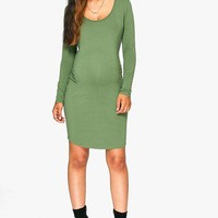 Maternity Lucy Scoop Neck Long Sleeve Bodycon | Boohoo