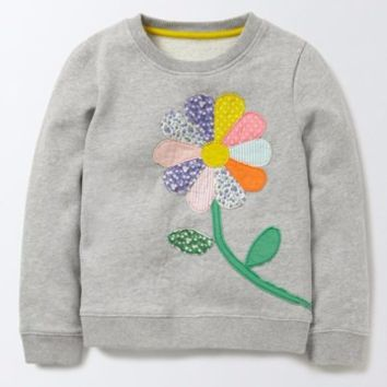 Mini Boden Colorful Appliqué Sweatshirt (Toddler Girls, Little Girls & Big Girls) | Nordstrom