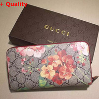 Gucci GG Blooms Zippy Wallet Replica-Replica Gucci GG Blooms Zippy Wallet