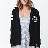 Young & Reckless Deep Cutt Zip Up Hoodie - Womens Hoodie - Black