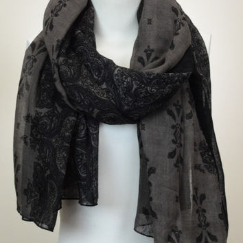 Orient Inspired Lightweight Scarf - Brown