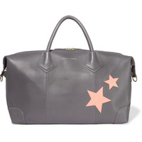 Eddie Harrop - Voyager appliquéd textured-leather weekend bag