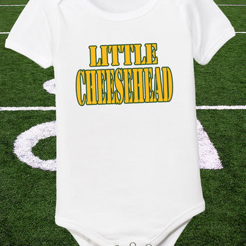 Infant Cheesehead One Piece Baby Little Cheese Head Tee Newborn Packer Shirt Boys Green Bay Bodysuit Wisconsin Tshirt 0 6 12 18 24 2T 3T 4T