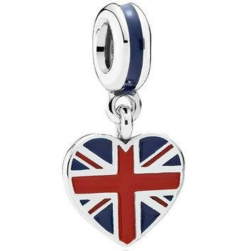 Authentic Pandora Jewelry - Heart Flag - Great Britain
