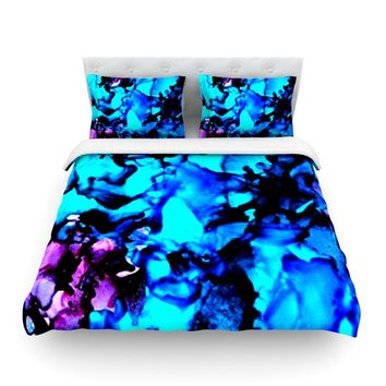 """Claire Day """"Peace Offering"""" Blue Aqua Featherweight Duvet Cover - Outlet Item"""