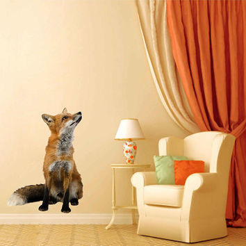 fox wall Decals fox wall decor fox Full Color wall Decals Animals wall Decals veterinary clinic decor Home Decor for kids room cik2204